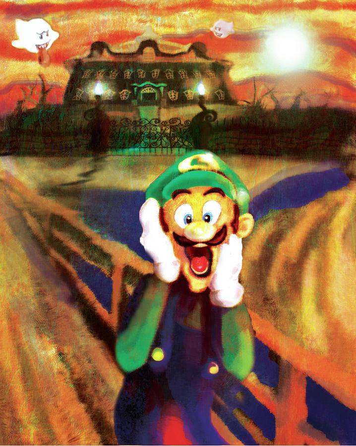 Van Gogh Digital Art - Scream Luigi by Ivan Florentino Ramirez