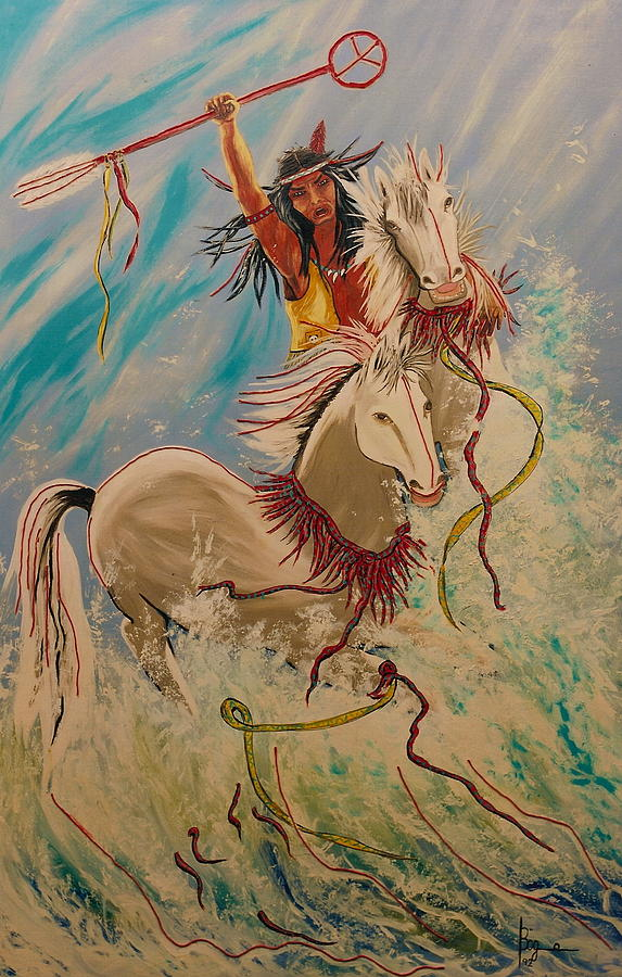 Horses Painting - Scream Of Peace by V Boge