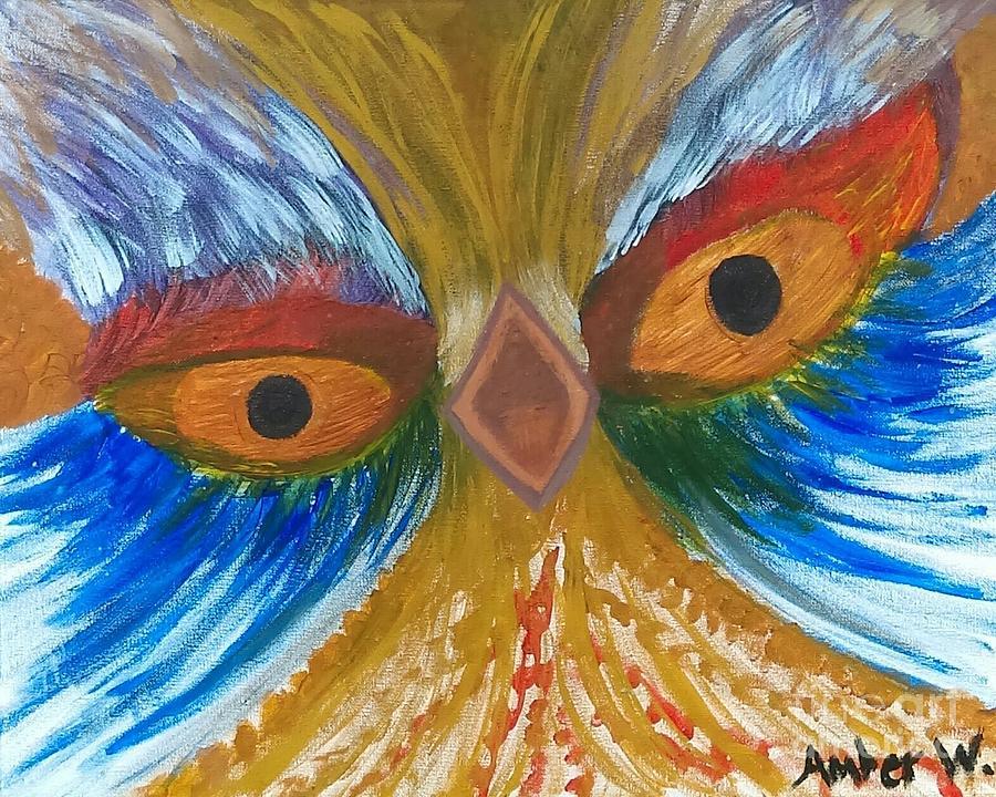 Screaming Bird Painting