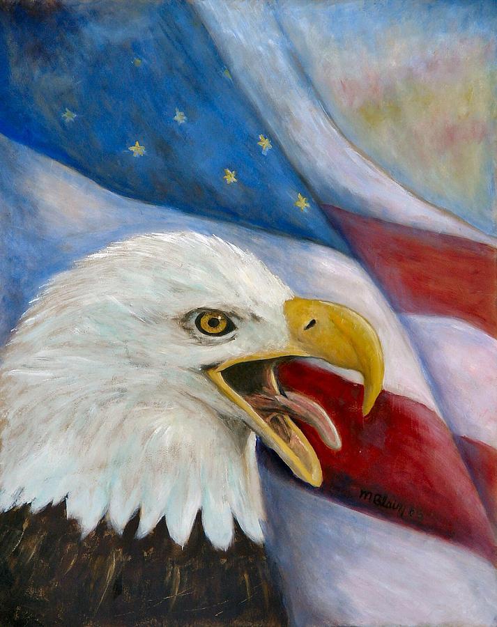 Birds Painting - Screaming Eagle by Merle Blair