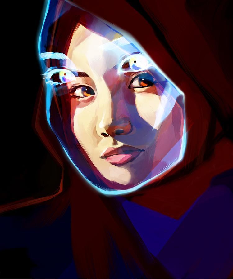 Portrait Digital Art - Screen by Ellan Suder