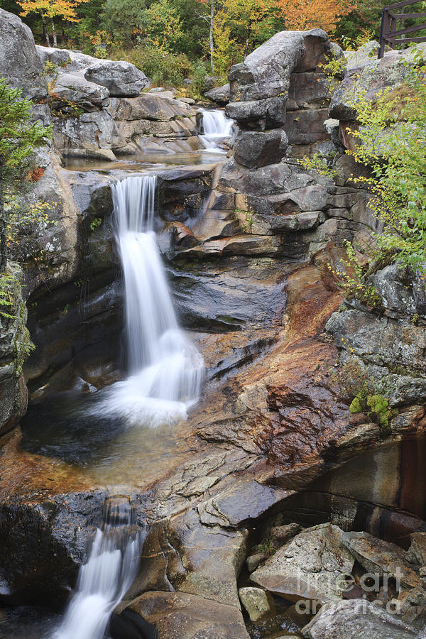 Nature Photograph - Screw Auger Falls - Maine  by Erin Paul Donovan