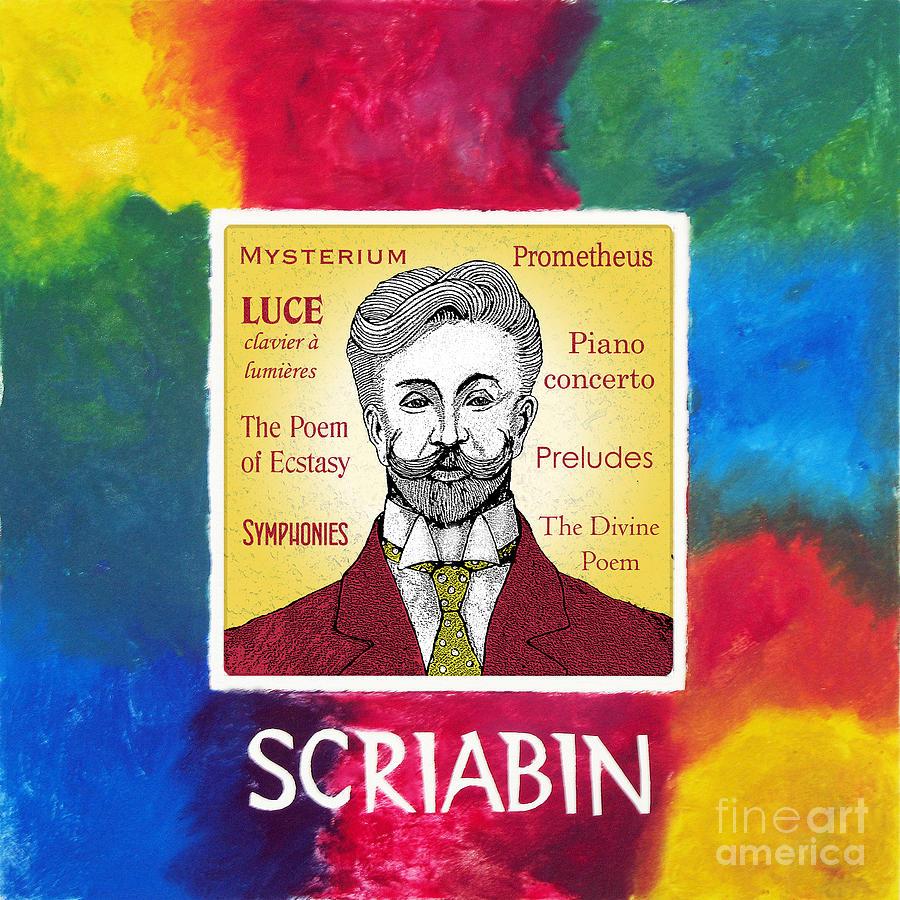 Scriabin Mixed Media - Scriabin by Paul Helm
