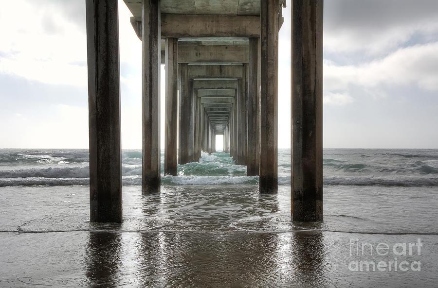 Scripps Photograph - Scripps Pier by Eddie Yerkish