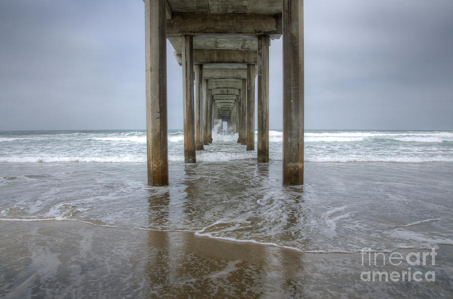Scripps Pier Photograph - Scripps Pier La Jolla California 4 by Bob Christopher
