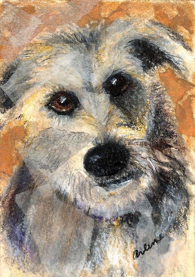Dog Mixed Media - Scruffy by Arline Wagner