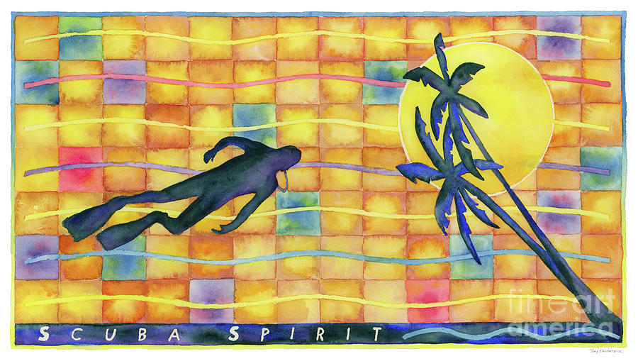Scuba Painting - Scuba Spirit by Amy Kirkpatrick