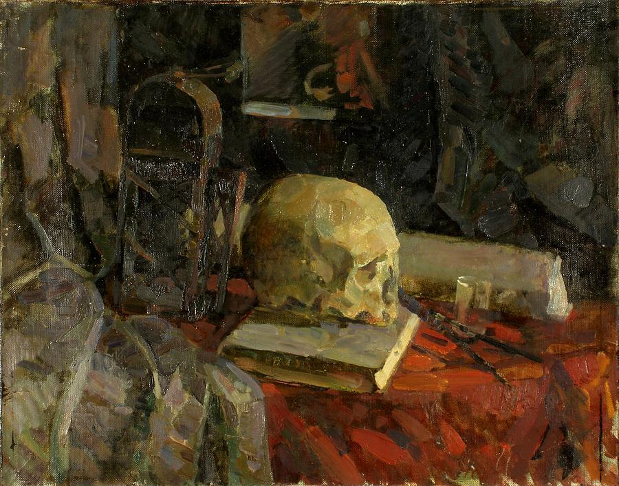 Skull Painting - Scull by Robert Nizamov