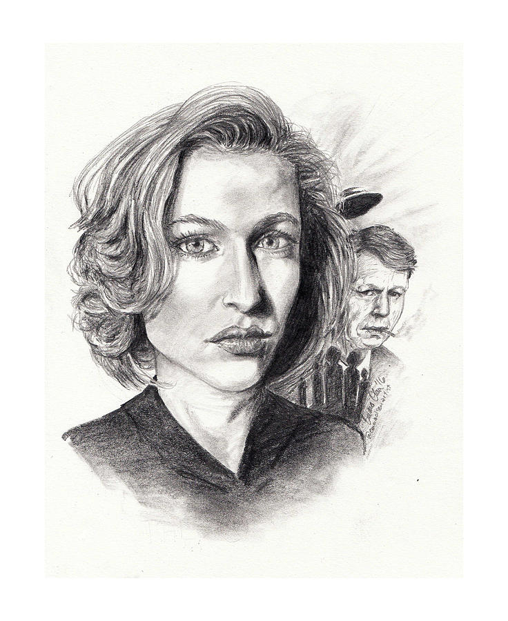 Scully Drawing - Scully by Emma Olsen