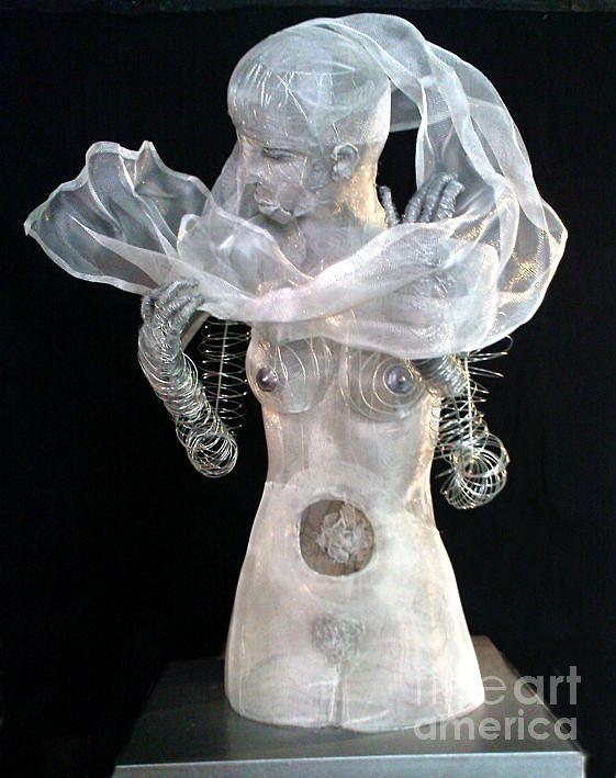 Woman Sculpture - Sculpture 1 by Lydie Dassonville