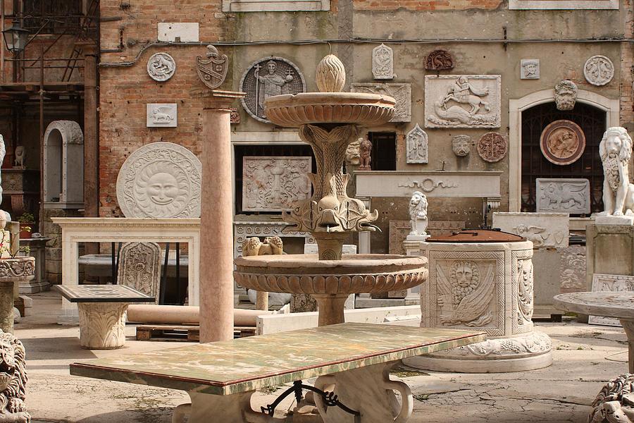 Venice Photograph - Sculpture Garden In Venice by Michael Henderson