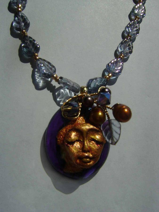 Jewelry Sculpture - Sculpture Meets Fused Glass Necklace by Michelle Lake
