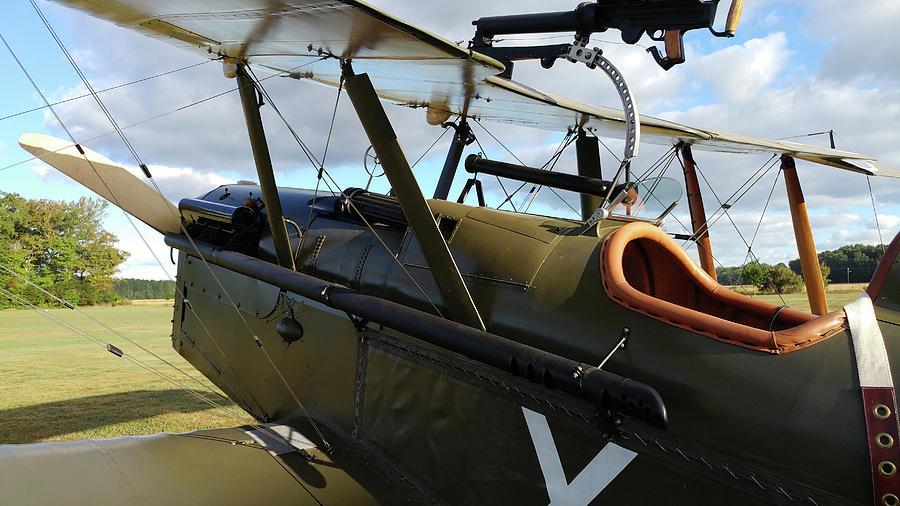 Airplane Photograph - SE5a Cockpit by Liza Eckardt