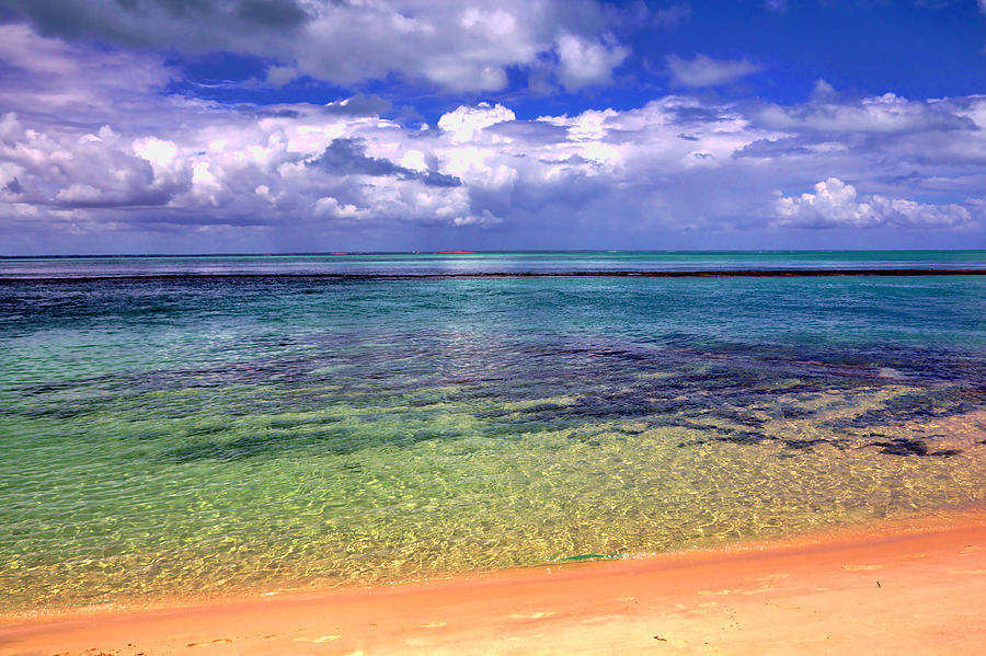Sea and Clouds and Beach by Jeremy Hayden