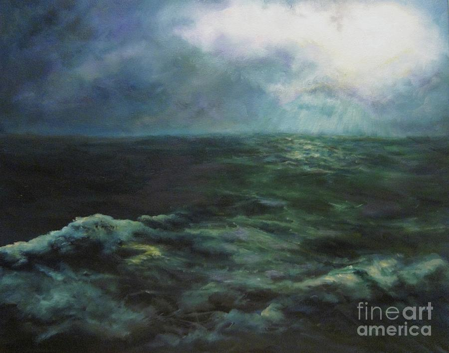 Ocean Painting - Sea And Sky by Diane Kraudelt