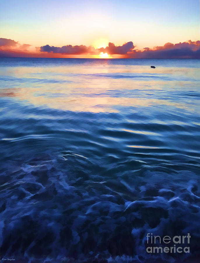 Seascape Photograph - Sea and Sky - Mullins Bay by Christine Segalas