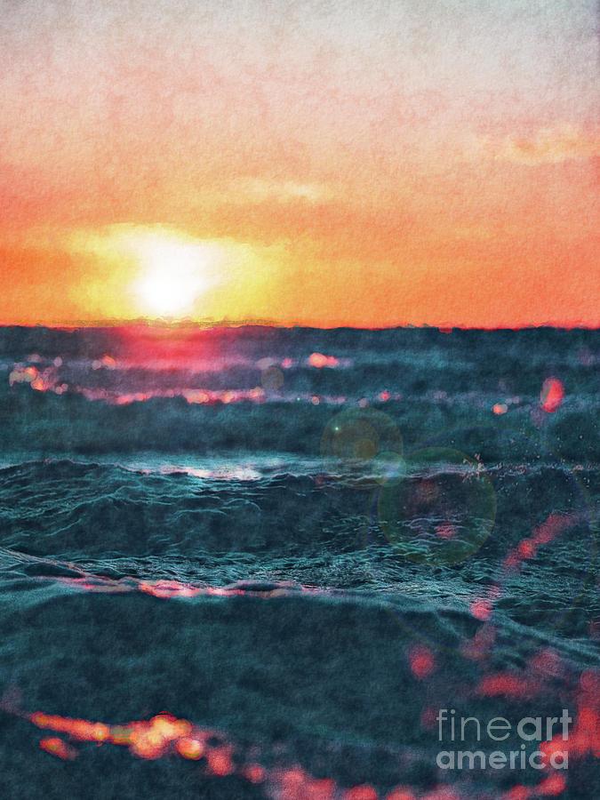 Waves Digital Art - Sea And Sun by Phil Perkins