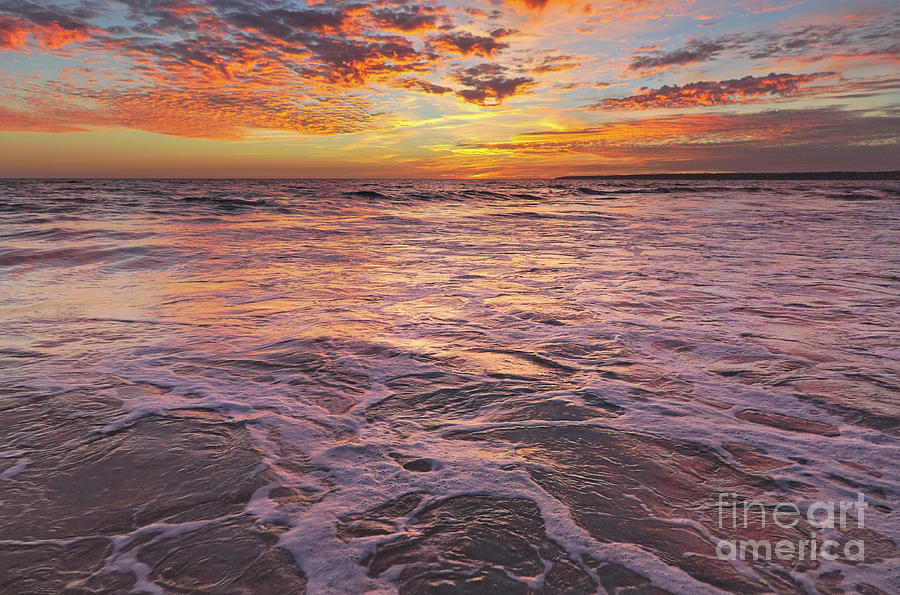 Seascape Photograph - Sea At Sunset In Algarve by Angelo DeVal