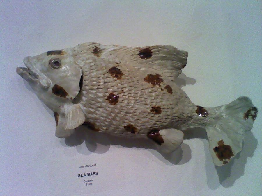 Sea Bass Sculpture - Sea Bass by Jennifer Leaf