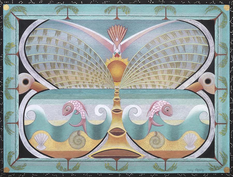 Fantasy Mixed Media - Sea Butterfly by Sally Appleby