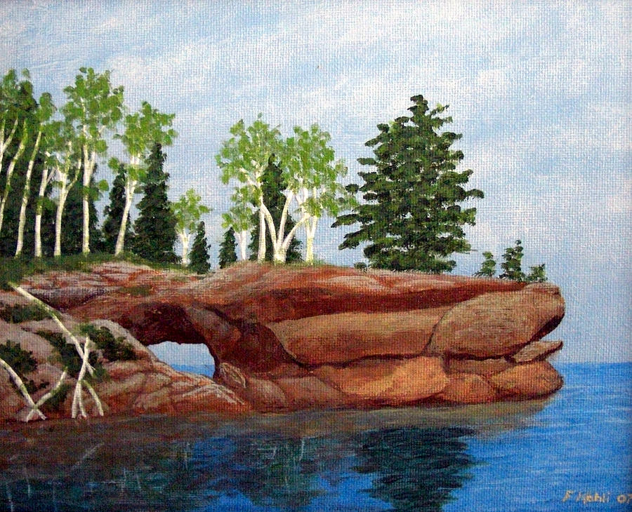 Landscape Paintings Painting - Sea Cave by Frederic Kohli