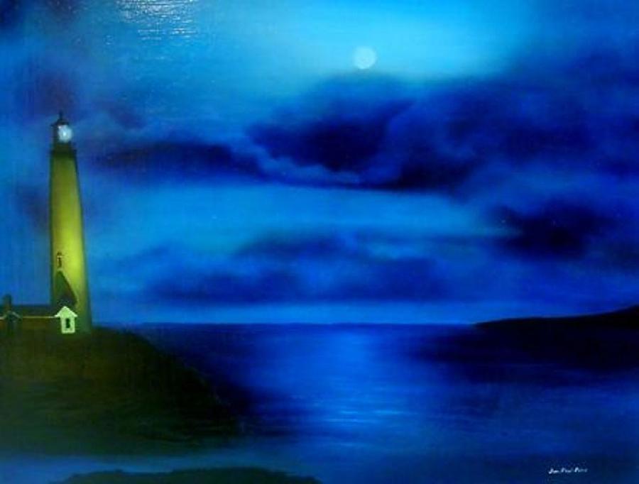 Lighthouse Painting - Sea Change by Jon Paul Price