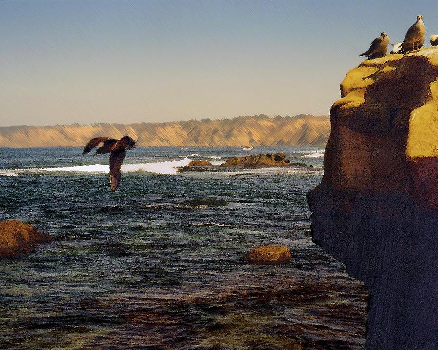 Ocean Digital Art - Sea Cliff by Steve Karol