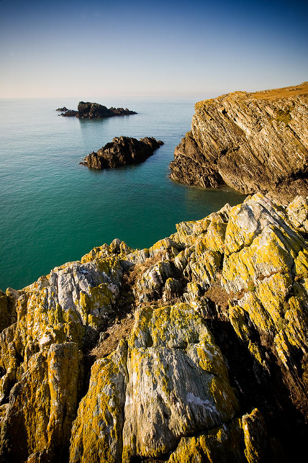 Wales Photograph - Sea Cliffs, Rhoscolyn by Peter OReilly
