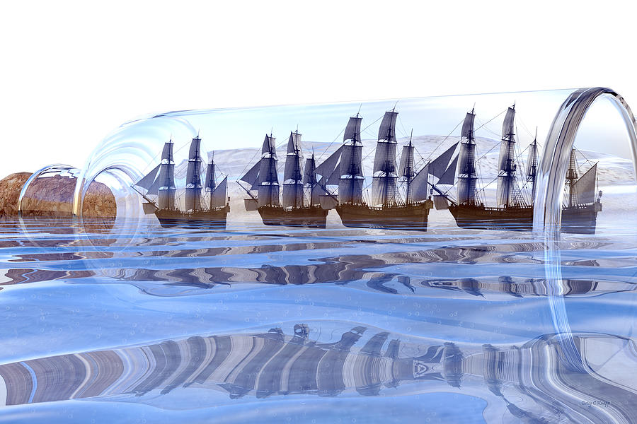 Bottled And Ready To Ship Digital Art