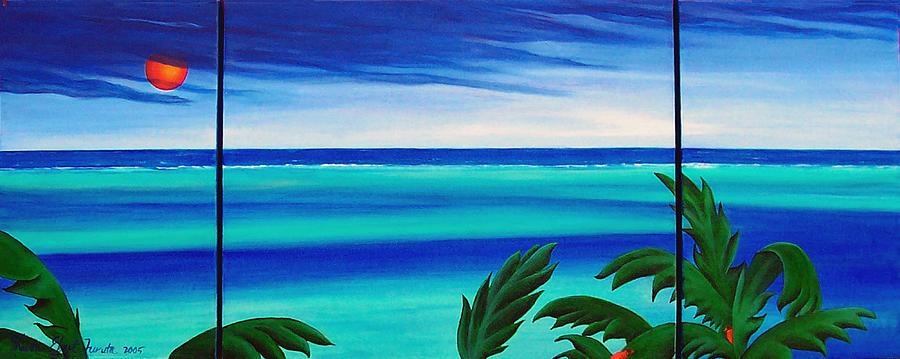 Seascape Painting - Sea Cut by Sharon Ebert