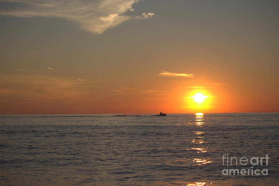 Grand Bend Photograph - Sea Doo In To The Sunset by John Scatcherd