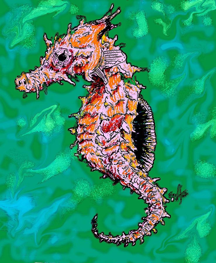 Aquatic Digital Art - Sea Dragon by Douglas Egolf