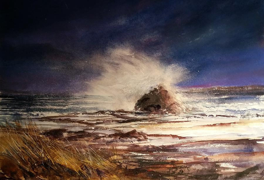 Seascape Painting - Sea Drama by Evelyn Antonysen