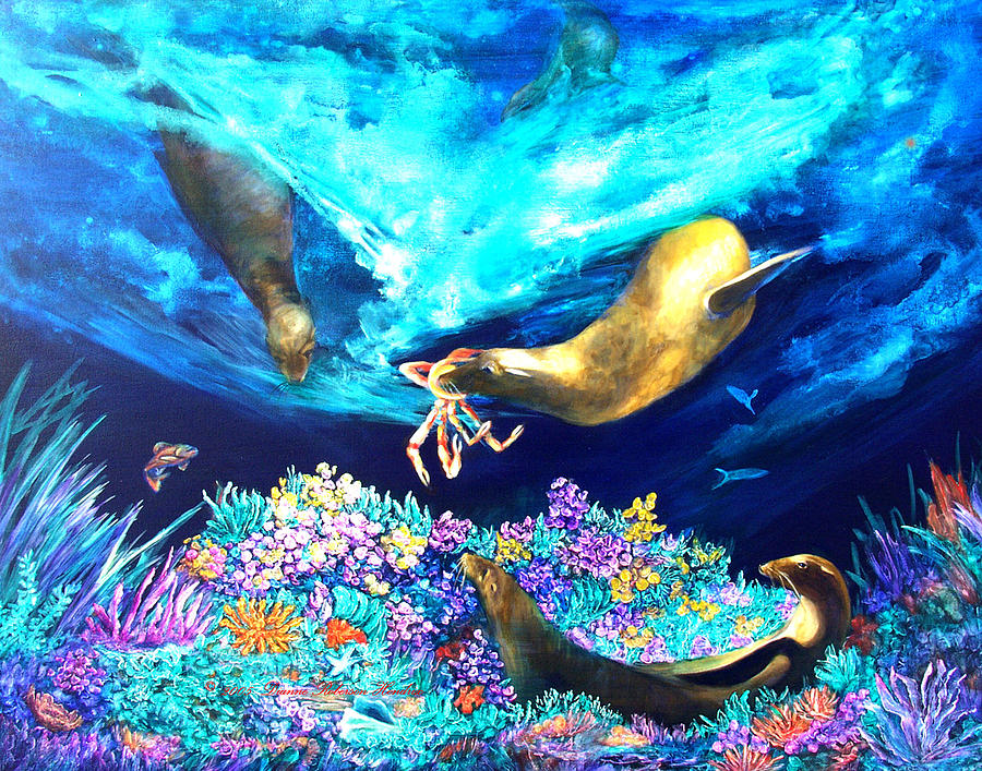 Ocean Painting - Sea Garden  by Dianne Roberson