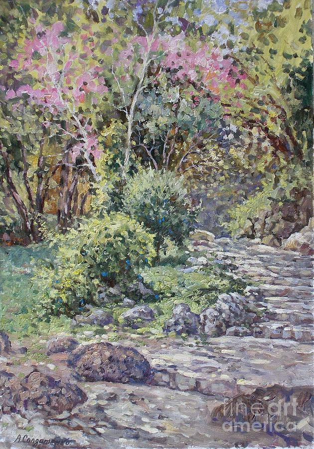 Landscape Painting - Sea Garden. Etude by Andrey Soldatenko