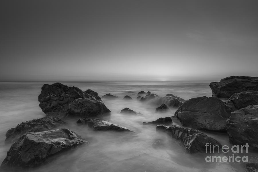 Sea Girt Photograph - Sea Girt Nj Sunrise Version 2 Bw by Michael Ver Sprill