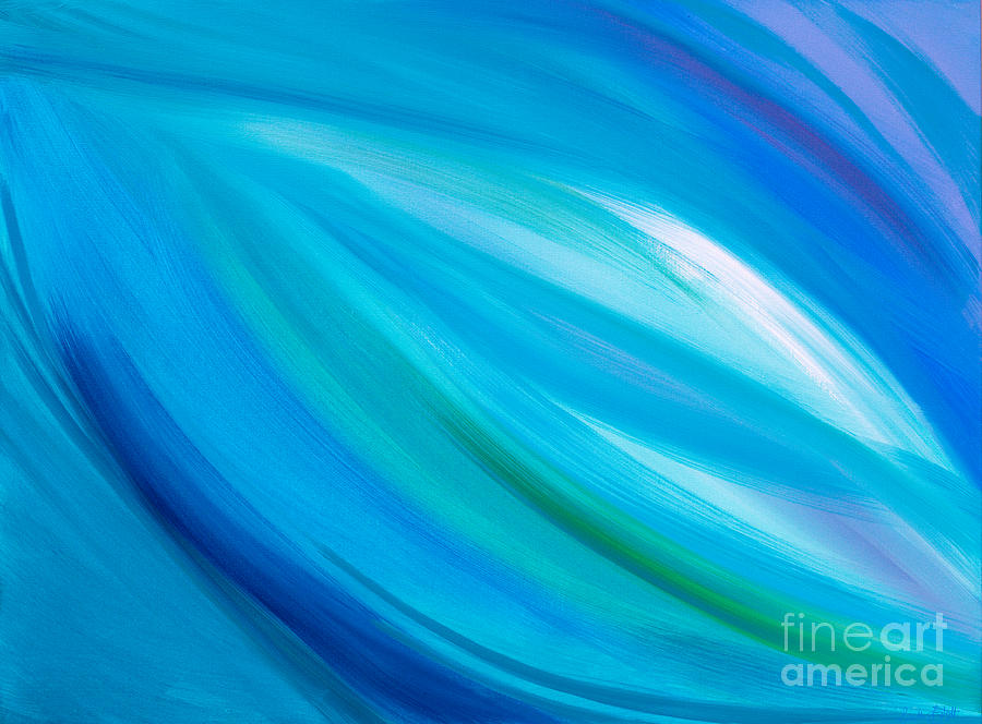 Sea Glass Painting by Priscilla Batzell Expressionist Art Studio Gallery