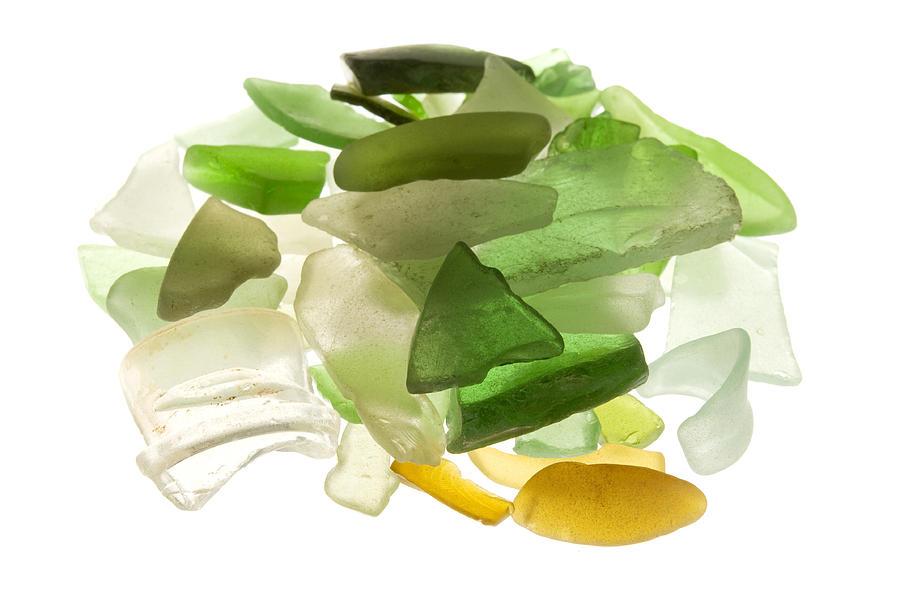 White Background Photograph - Sea Glass by Fabrizio Troiani
