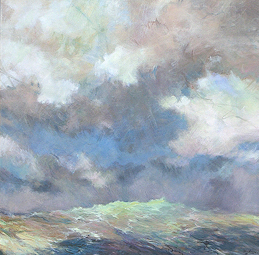 Seascape Painting - Sea Glow by Marilyn Muller