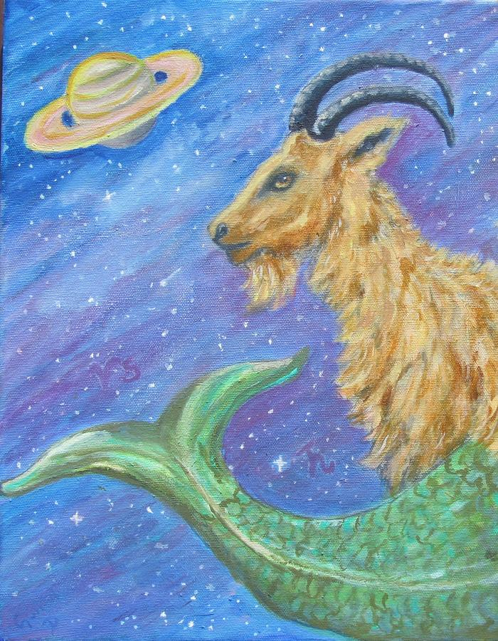 Sea Goat Painting - Sea Goat by Caroline Owen-Doar