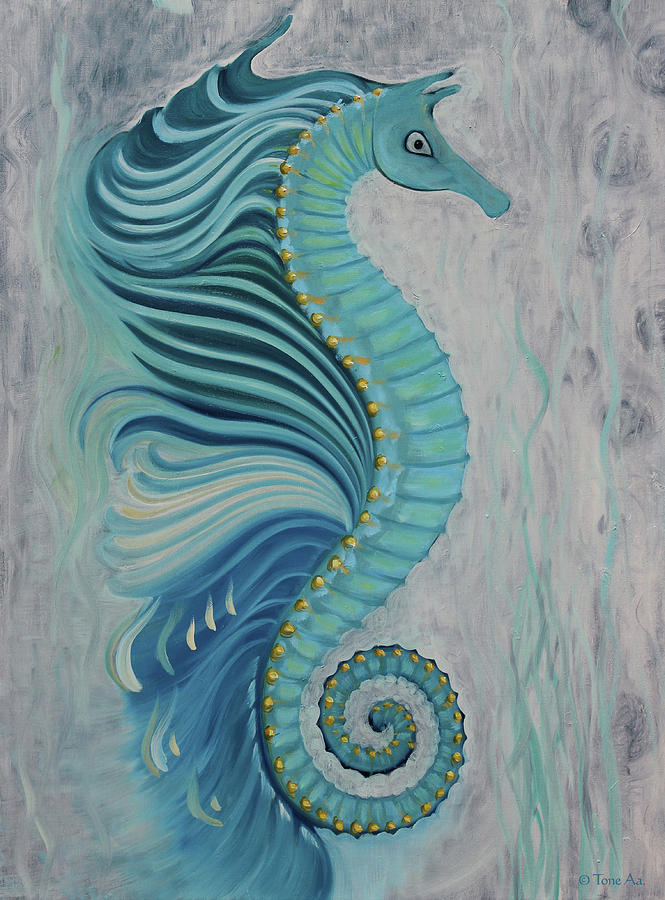 Sea Horse Visit by Tone Aanderaa
