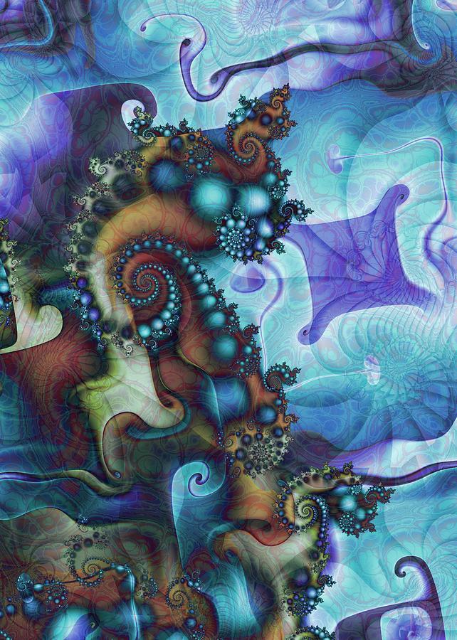 Fractal Digital Art - Sea Jewels by David April