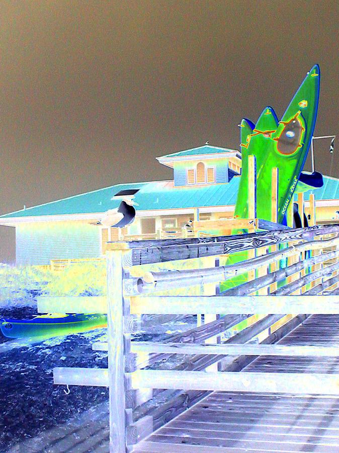 Beach Digital Art - Sea Kyayks by Peter  McIntosh