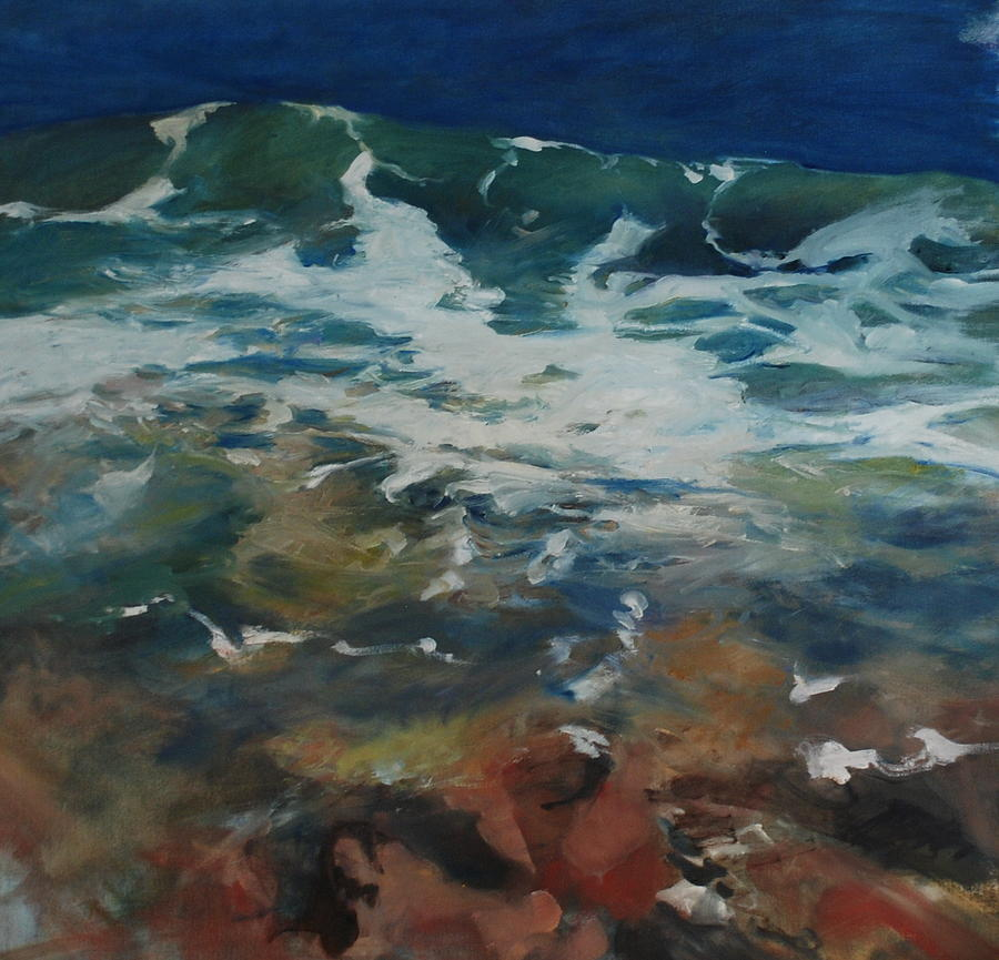 Seascape Painting - Sea Level by Marilyn Muller