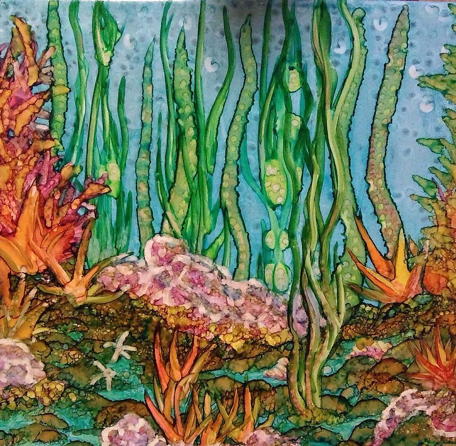 Ocean Painting - Sea Life by Betsy Carlson Cross