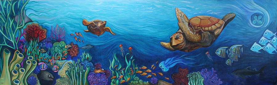 Sea Painting - Sea Life by Kate Fortin