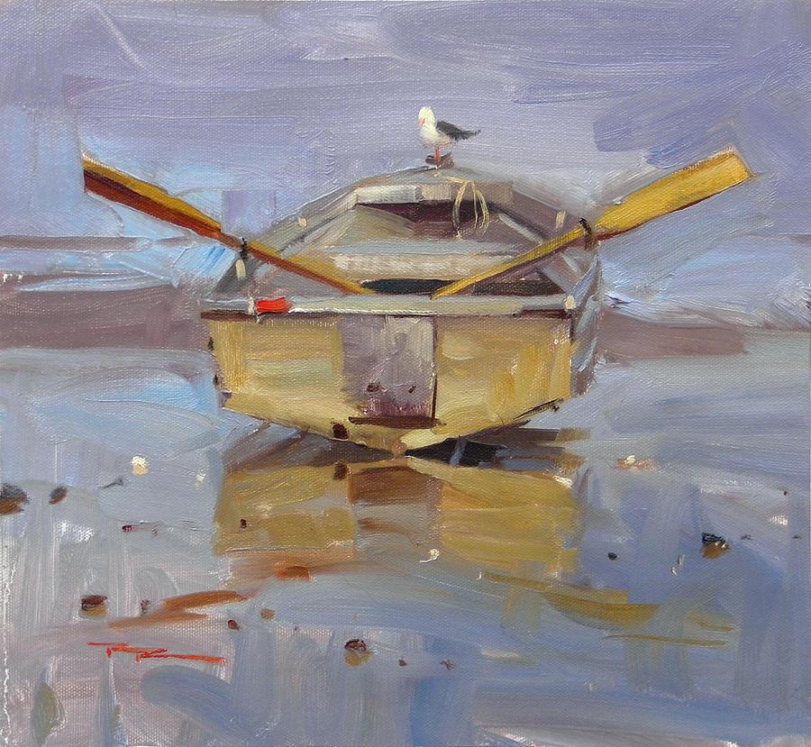 Boat Painting - Sea Life by Richard Robinson