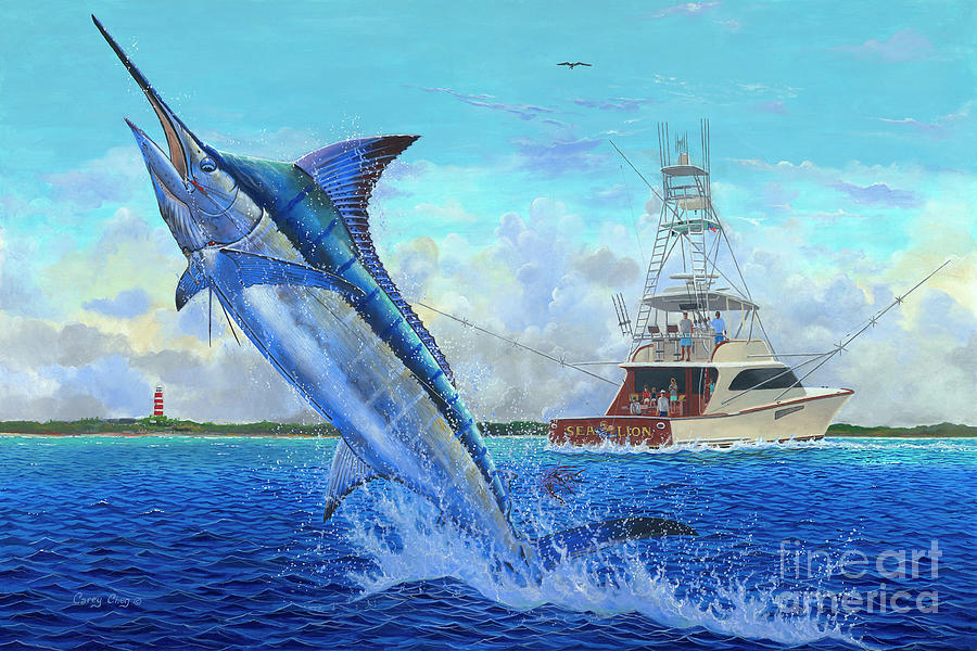Marlin Painting - Sea Lion by Carey Chen