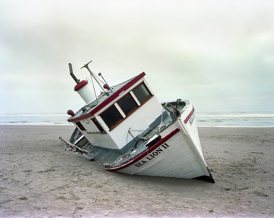Boat Photograph - Sea Lion II - Last Day On The Beach by HW Kateley