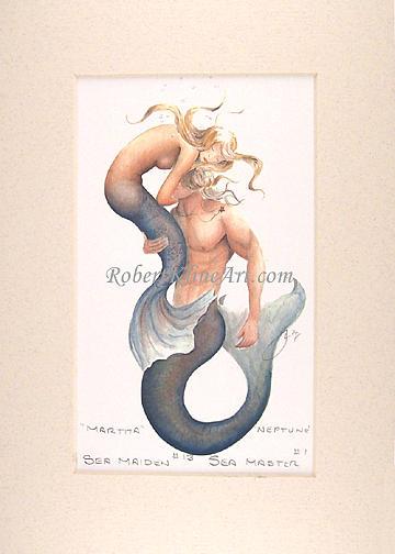 Mermaid Painting - Sea Maiden 13 Martha And Sea Master Neptune by Robert Kline